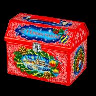 Новогодний подарок Сундук со сказками стоимостью 900 руб. и весом 1000 гр. гр.
